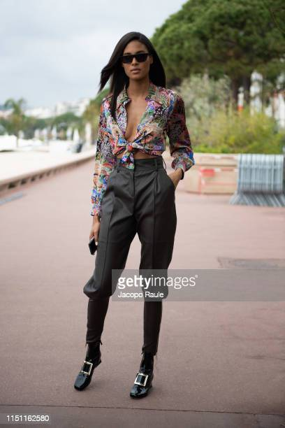 Cindy Bruna is seen during the 72nd annual Cannes Film Festival at on May 23 2019 in Cannes France