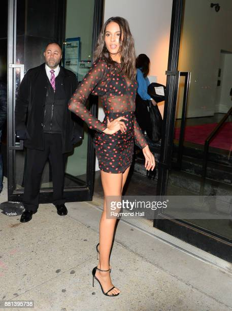 Cindy Bruna is seen Iin Soho on November 28 2017 in New York City