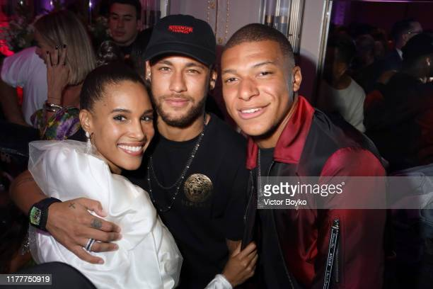 Cindy Bruna Neymar and Kylian Mbappe attend Cindy Bruna's Birthday Party at Hotel Lutetia with Five Eyes Production as part of Paris Fashion Week...