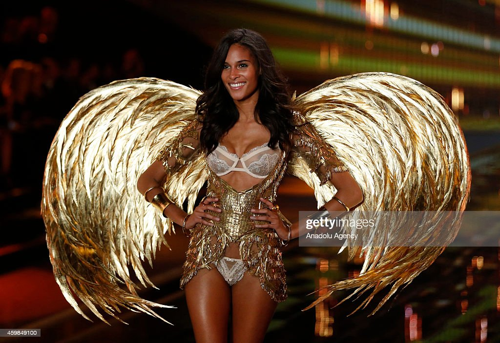 Cindy Bruna on the runway at the 2014 Victoria's Secret Runway Show - Swarovski Crystal Looks at Earl's Court Exhibition Centre on December 2, 2014 in London, England.