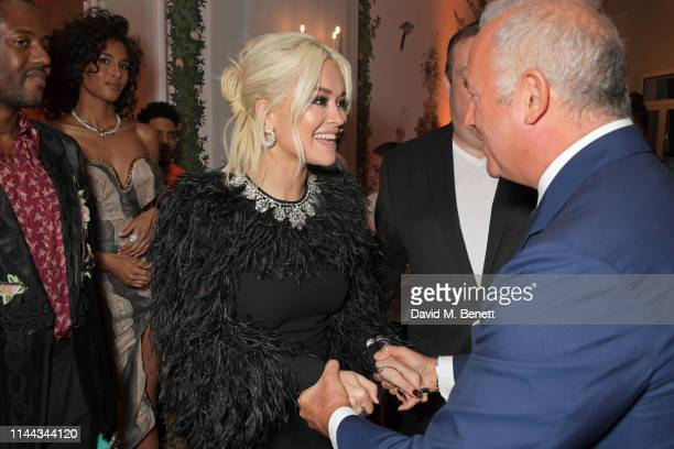 Cindy Bruna Rita Ora and CEO of Finch Partners Charles Finch attend the 10th Annual Filmmakers Dinner hosted by Charles Finch Edward Enninful and...