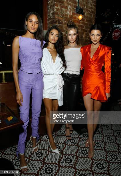 Cindy Bruna Shanina Shayk Josephine Skriver and Kendall Jenner attend CHAOS x LOVE magazine party on June 7 2018 in New York City