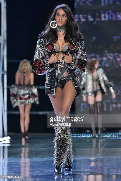 Cindy Bruna walks the runway at the 2017 Victoria's Secret Fashion Show In Shanghai Show at MercedesBenz Arena on November 20 2017 in Shanghai China