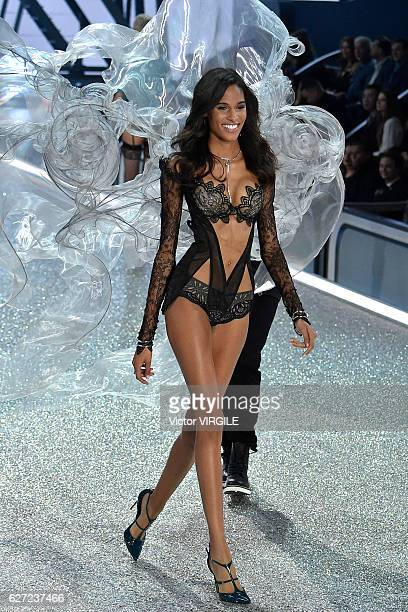 Cindy Bruna walks the runway during the 2016 Victoria's Secret Fashion Show on November 30 2016 in Paris France