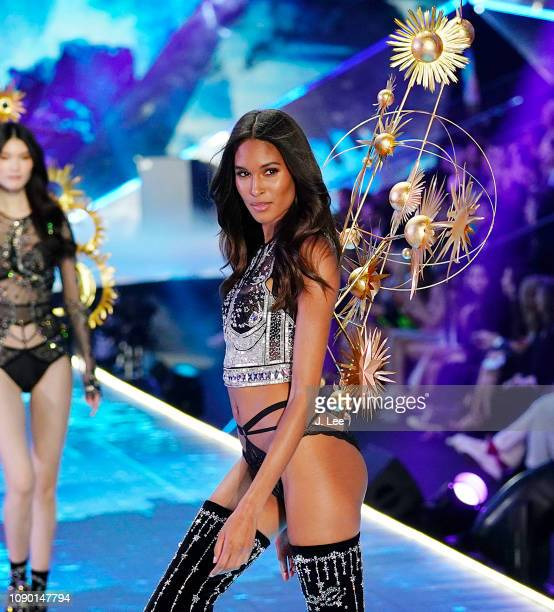 Cindy Bruna walks the runway during the 2018 Victoria's Secret Fashion Show at Pier 94 on November 8 2018 in New York City