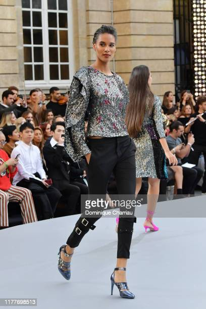 Cindy Bruna walks the runway during the Le Defile L'Oreal Paris Show as part of Paris Fashion Week on September 28 2019 in Paris France