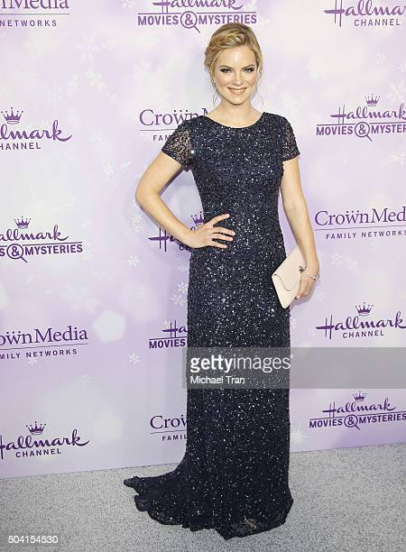 Cindy Busby arrives at Hallmark Channel/Hallmark Movies and Mysteries party during the Winter 2016 TCA press tour held at Tournament House on January...