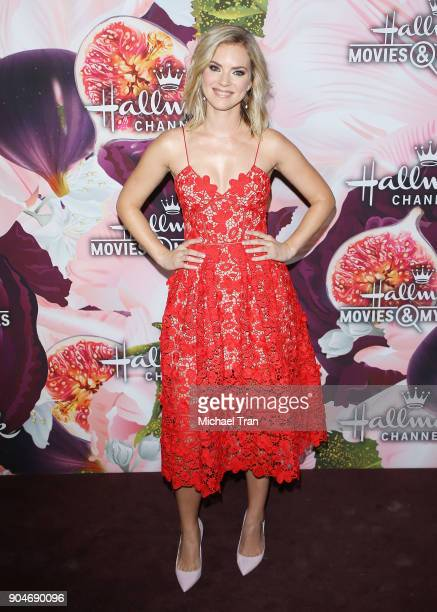 Cindy Busby arrives to the Hallmark Channel and Hallmark Movies and Mysteries Winter 2018 TCA Press Tour held at Tournament House on January 13 2018...