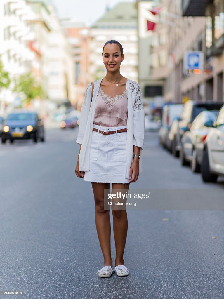 Stockholm Fashion Week Spring/Summer 2017 - Street Style : News Photo