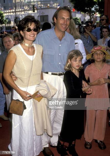 Cindy Costner Kevin Costner Lily Costner and Annie Costner