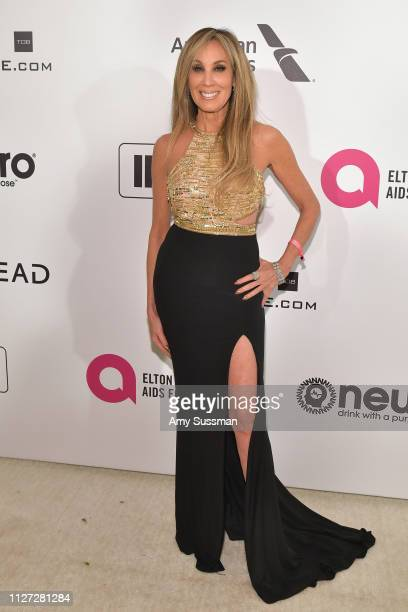 Cindy Cowan attends the 27th annual Elton John AIDS Foundation Academy Awards Viewing Party celebrating EJAF and the 91st Academy Awards on February...
