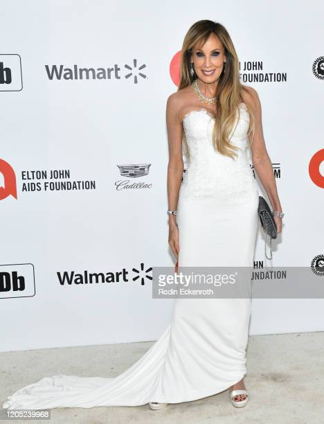 Cindy Cowan attends the 28th Annual Elton John AIDS Foundation Academy Awards Viewing Party Sponsored By IMDb And Neuro Drinks on February 09, 2020...