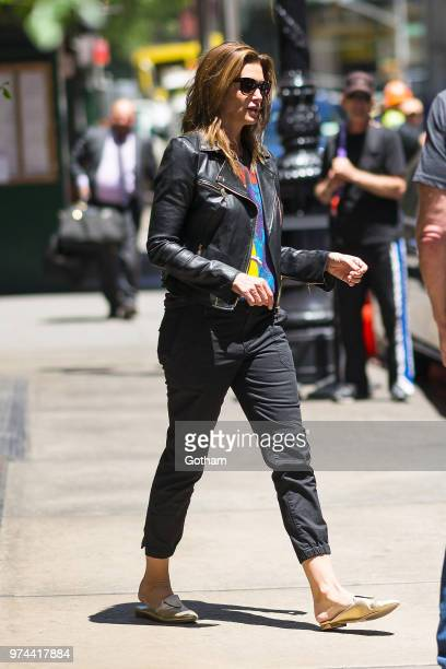 Cindy Crawdford is seen in SoHo on June 14, 2018 in New York City.