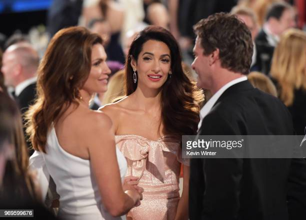 Cindy Crawford, Amal Clooney, and Rande Gerber attend the American Film Institute's 46th Life Achievement Award Gala Tribute to George Clooney at...
