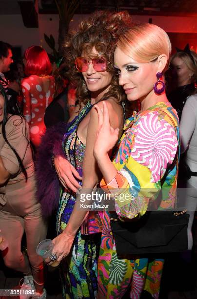 Cindy Crawford and Amber Valletta attend the 2019 Casamigos Halloween Party on October 25, 2019 at a private residence in Beverly Hills, California.
