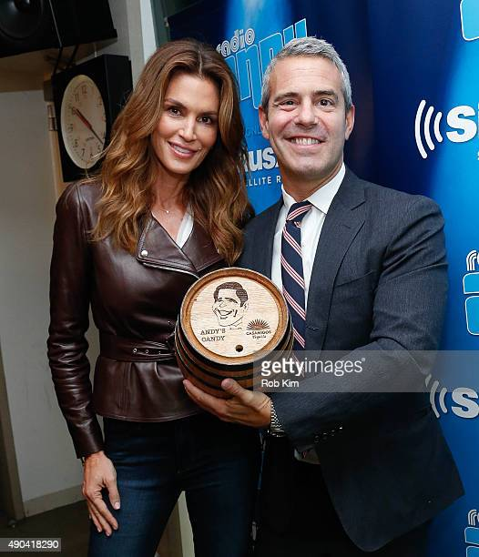 Cindy Crawford and Andy Cohen appear on Andy Cohen Live on Andy Cohen's exclusive Siriusxm channel Radio Andy at SiriusXM Studios on September 28...