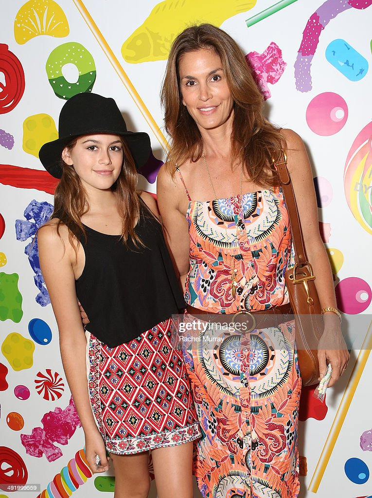 Cindy Crawford (R) and daughter Kaia Crawford attend Dylan's Candy Bar Candy Girl Collection LA launch event at Dylan's Candy Bar on May 17, 2014 in Los Angeles, California.