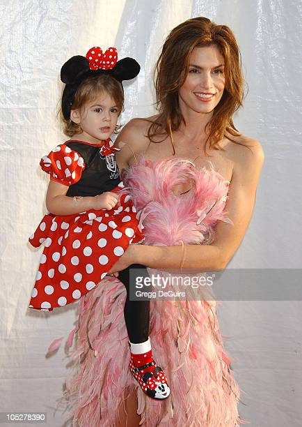 Cindy Crawford and daughter Kaia during 10th Anniversary Dream Halloween Los Angeles Fundraising Event at Barker Hanger in Santa Monica California...