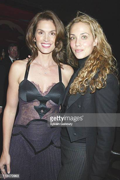 Cindy Crawford and Elizabeth Berkley during Grand opening of the new Time Warner Center at Time Warner Center in New York New York United States