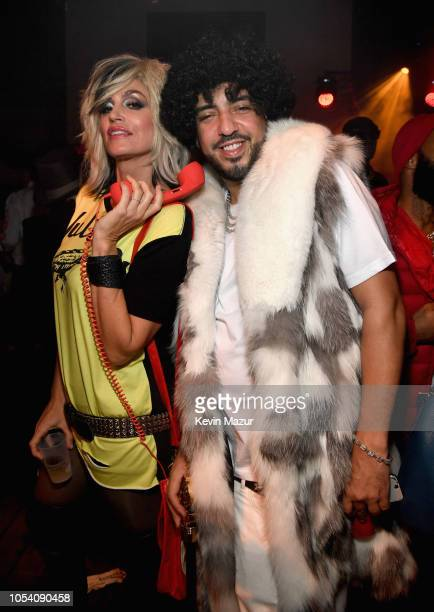 Cindy Crawford and French Montana attend the Casamigos Halloween Party on October 26, 2018 in Beverly Hills, California.
