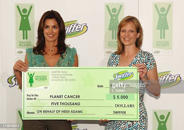 Cindy Crawford and Heidi Adams during Cindy Crawford Announces the Winners of the First Annual Swiffer Amazing Women of the Year Awards at Regent...