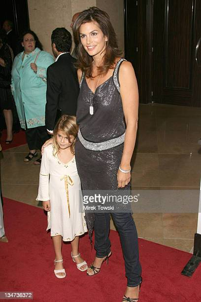 Cindy Crawford and her daughter during Runway for Life Celebrity Fashion Show Benefiting St Jude Children's Research Hospital at Beverly Hilton Hotel...