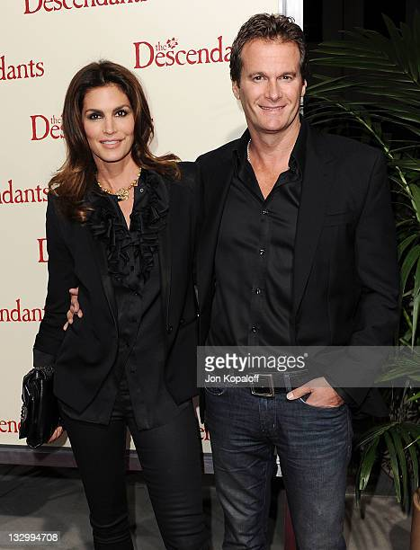 """Cindy Crawford and husband Rande Gerber arrive at the Los Angeles Premiere """"The Descendants"""" at AMPAS Samuel Goldwyn Theater on November 15, 2011 in..."""