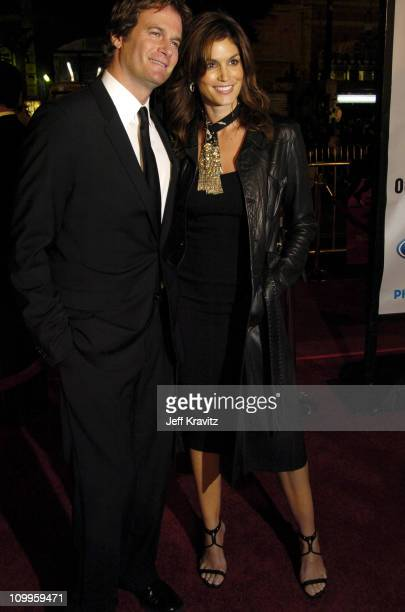 Cindy Crawford and husband Rande Gerber during Ocean's Twelve Los Angeles Premiere Arrivals at Grauman's Chineese Theater in Los Angeles California...