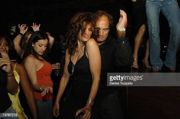 Cindy Crawford and Jim Belushi at the Cherry Bar at Red Rock Casino Resort and Spa in Las Vegas Nevada