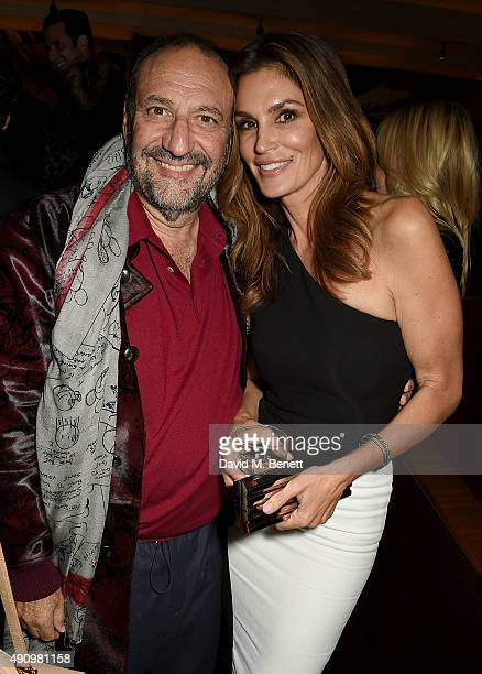 Cindy Crawford and Joel Silver attend the London launch of Casamigos Tequila and Cindy Crawford's book 'Becoming' hosted by Rande Gerber George...