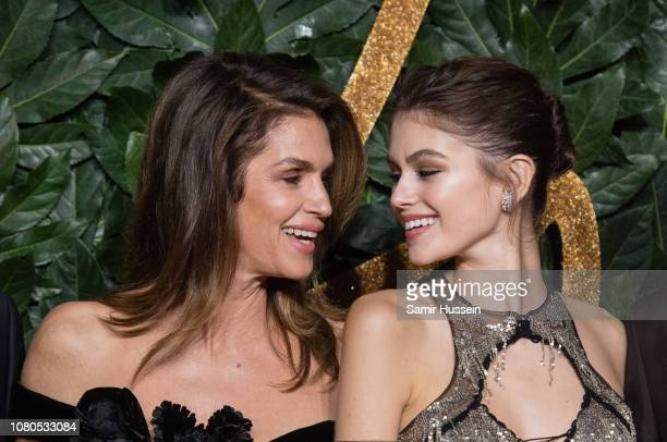 Cindy Crawford and Kaia Gerber arrive at The Fashion Awards 2018 In Partnership With Swarovski at Royal Albert Hall on December 10 2018 in London...