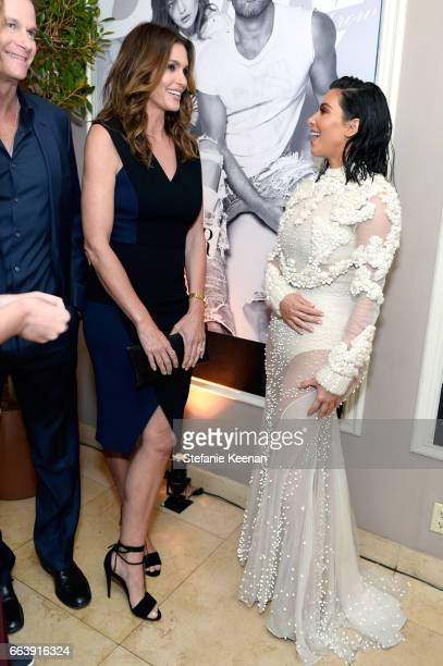 Cindy Crawford and Kim Kardashian West attend the Daily Front Row's 3rd Annual Fashion Los Angeles Awards at Sunset Tower Hotel on April 2 2017 in...