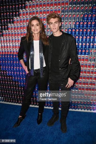 Cindy Crawford and Presley Gerber at Pepsi Generations Live PopUp on February 2 2018 in Minneapolis Minnesota