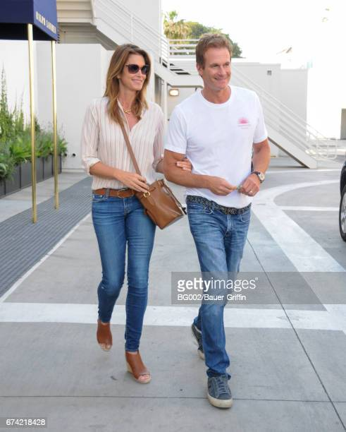 Cindy Crawford and Rande Gerber are seen on April 27 2017 in Los Angeles California