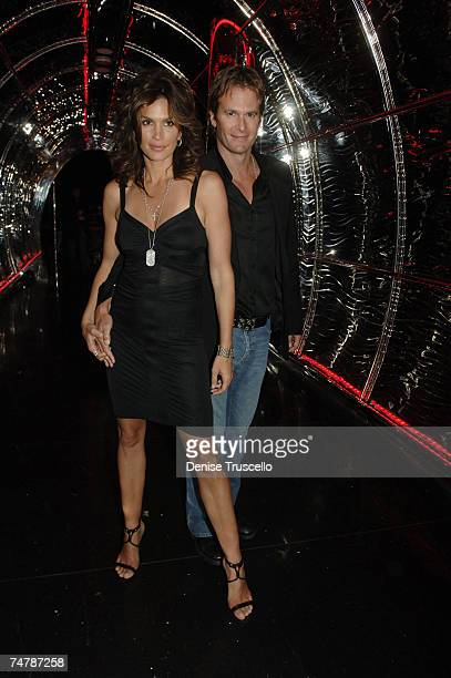Cindy Crawford and Rande Gerber at the Cherry Bar at Red Rock Casino Resort and Spa in Las Vegas Nevada