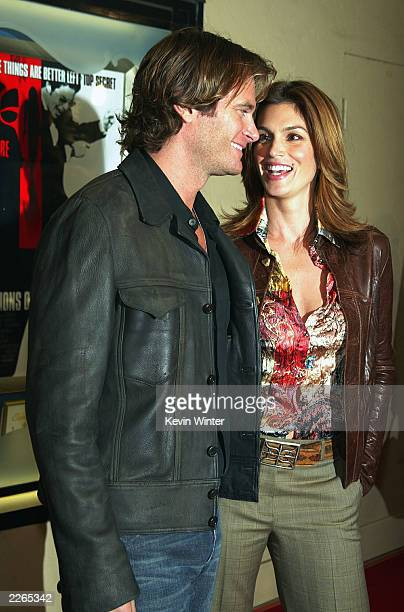 Cindy Crawford and Rande Gerber at the premiere of Confessions of a Dangerous Mind at the Bruin Theatre and afterparty at the W Hotel in Los Angeles...