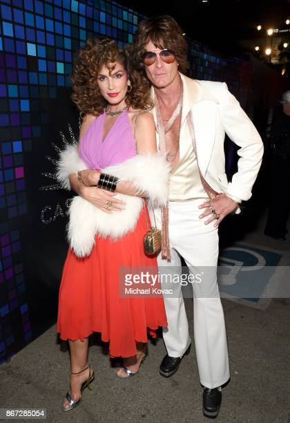 Cindy Crawford and Rande Gerber attend Casamigos Halloween Party on October 27 2017 in Los Angeles California