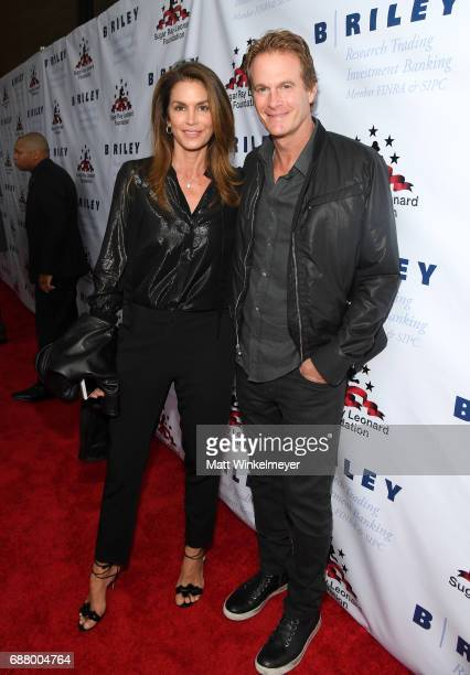 Cindy Crawford and Rande Gerber attend the B Riley Co 8th Annual Big Fighters Big Cause Charity Boxing Night benefiting the Sugar Ray Leonard...