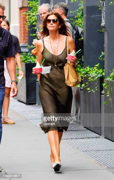 Cindy Crawford and Rande Gerber out and about on August 6 2019 in New York City