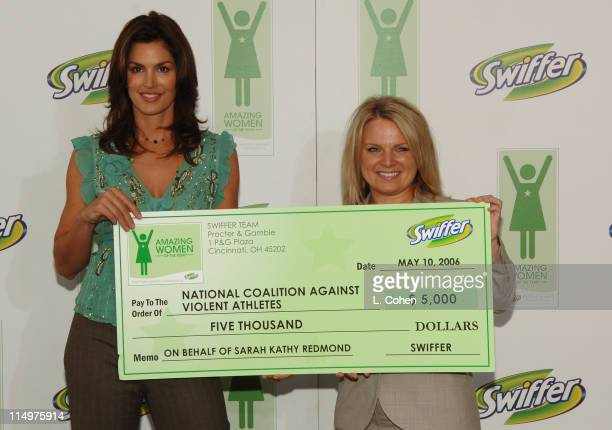 Cindy Crawford and Sarah Kathy Redmond during Cindy Crawford Announces the Winners of the First Annual Swiffer Amazing Women of the Year Awards at...