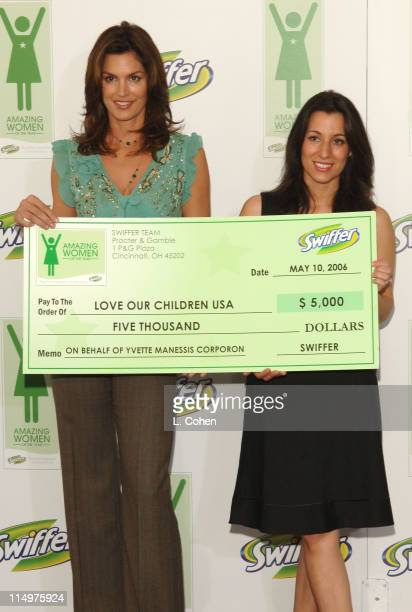 Cindy Crawford and Yvette Manessis during Cindy Crawford Announces the Winners of the First Annual Swiffer Amazing Women of the Year Awards at Regent...