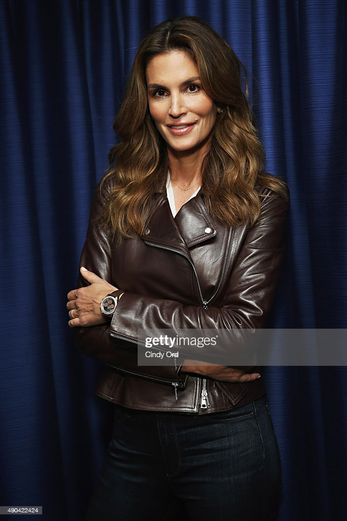 """Cindy Crawford Appears On """"SiriusXM Leading Ladies"""" Series Hosted By SiriusXM Host Jenny Hutt : News Photo"""