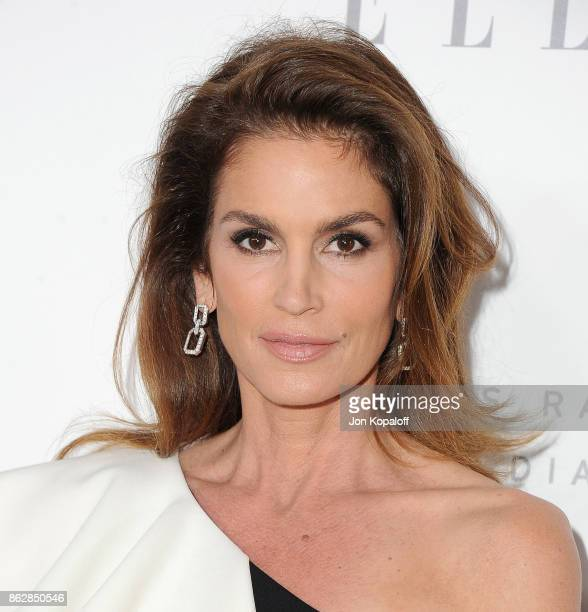 Cindy Crawford arrives at ELLE's 24th Annual Women in Hollywood Celebration at Four Seasons Hotel Los Angeles at Beverly Hills on October 16 2017 in...