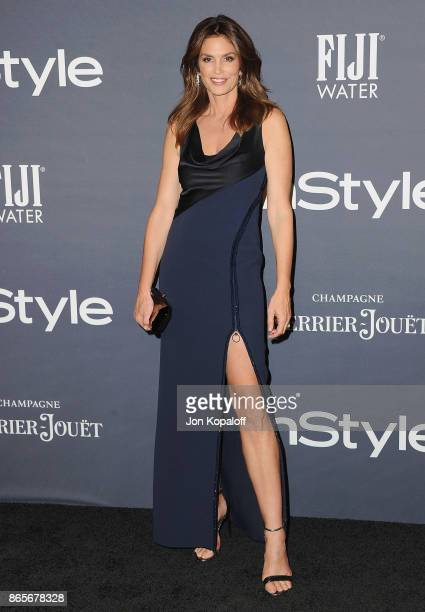 Cindy Crawford arrives at the 3rd Annual InStyle Awards at The Getty Center on October 23 2017 in Los Angeles California