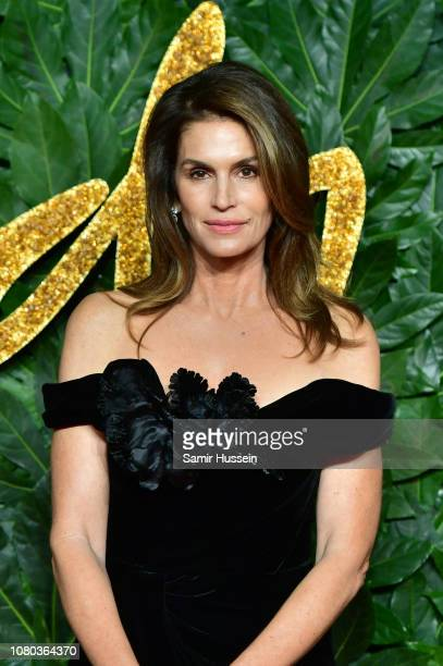 Cindy Crawford arrives at The Fashion Awards 2018 In Partnership With Swarovski at Royal Albert Hall on December 10 2018 in London England