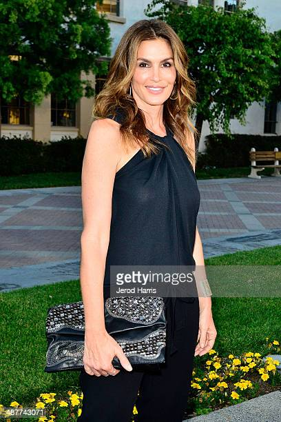 Cindy Crawford arrives at the Premiere of Lifetime Television's 'Return To Zero' at Paramount Theater on the Paramount Studios lot on May 1 2014 in...