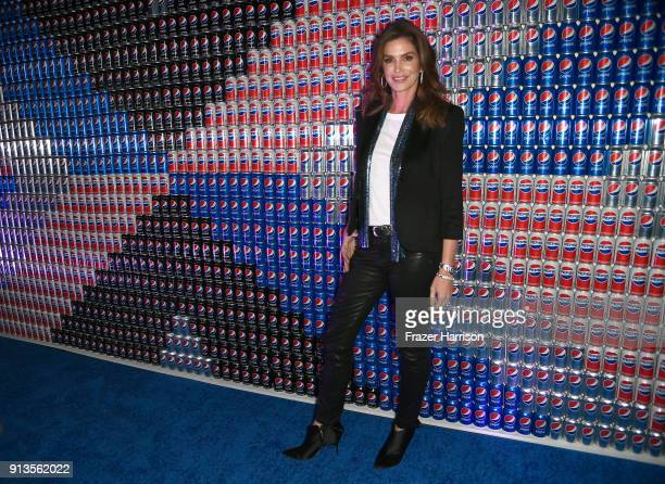 Cindy Crawford at Pepsi Generations Live PopUp on February 2 2018 in Minneapolis Minnesota