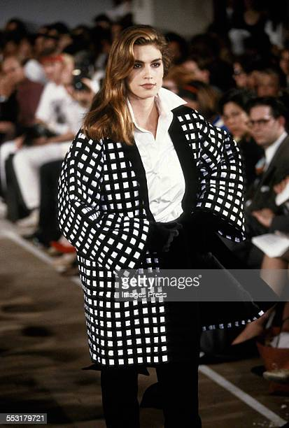 Cindy Crawford at the Michael Kors Fall 1991 show circa 1991 in New York City.