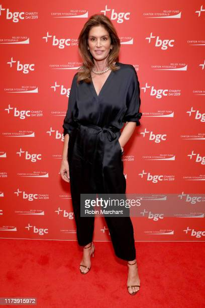 Cindy Crawford attends Annual Charity Day Hosted By Cantor Fitzgerald BGC and GFI BGC Office Arrivals on September 11 2019 in New York City