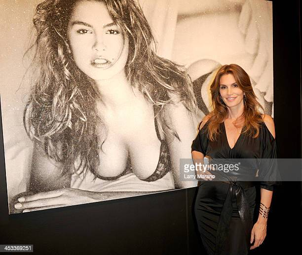 Cindy Crawford attends Art Miami on December 3 2013 in Miami Florida